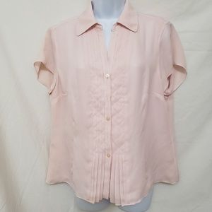 Jones NY Pink Button Down Blouse 12